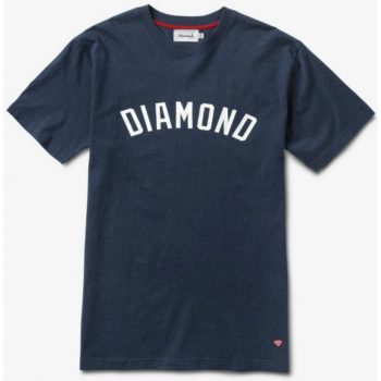 Diamond Arch Tee Heather Navy
