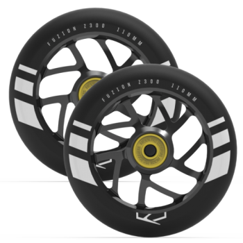Fuzion Flight Wheels 110mm -  Black/Black  (PAIR)