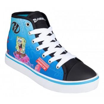 Heelys X Spongebob Hustle (HES10362)- Black/White/Multi Canvas