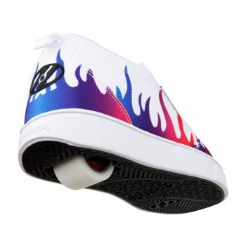 Heelys Pro 20 Prints (HE100813) -  White/Rainbow Flames