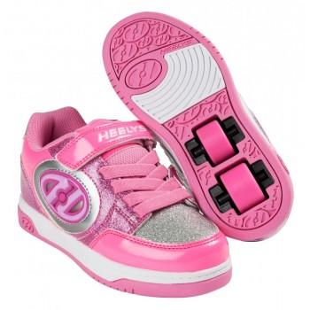 Heelys X2 Plus Lighted (HE100011) - Neon Pink/Light Pink/Silver