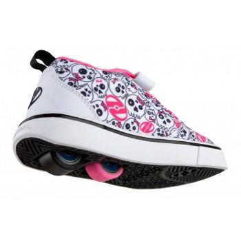 Heelys Pro 20 X2 (HE100724) - White / Black /Hot Pink /Skulls