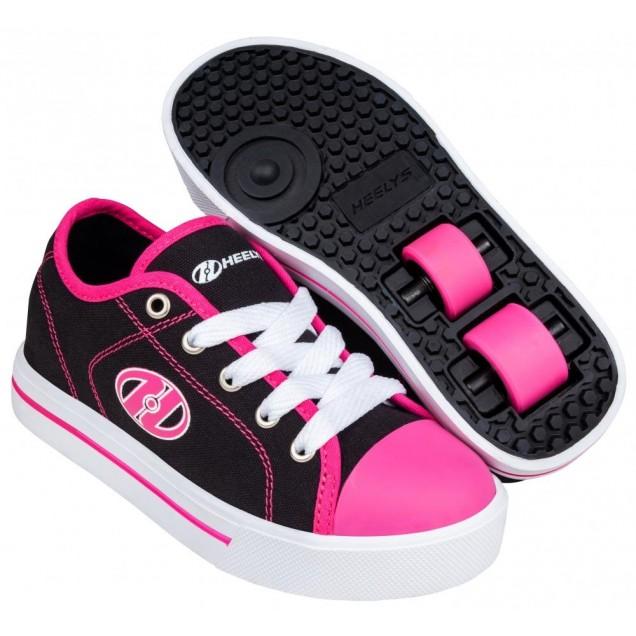 Heelys Classic X2  Black/White/Hot Pink