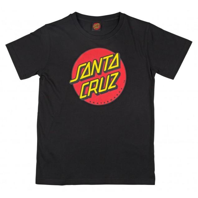 Santa Cruz Youth Classic Dot T-Shirt - Black
