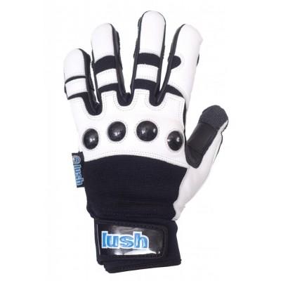Lush Race Gloves Deluxe Black - White