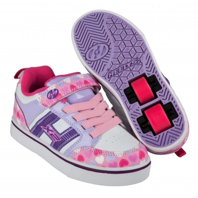 Heelys X2 Bolt Plus 770942 Light Pink/Lilac/Hearts