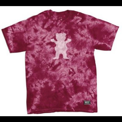 Grizzly Shatter OG Bear T-Shirt - Burgundy
