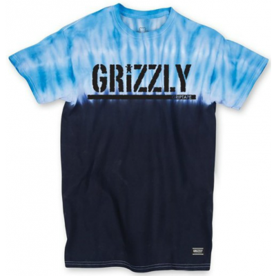 Grizzly Fire Blue Tie Dye Tee
