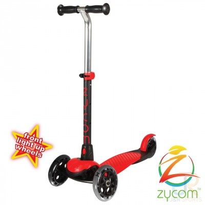 Zycom Zing Kids Light Up Scooter - Red/Black
