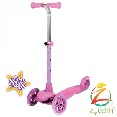 Zycom Zing Kids Light Up Scooter - Pink/Purple