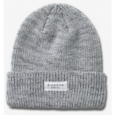 Diamond Stone Cut Beanie - Speckle White