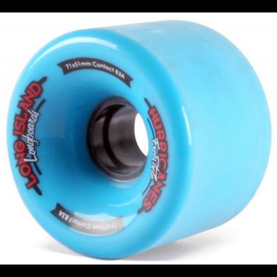 Long Island Hurricane Longboard Wheels 71mm - Blue