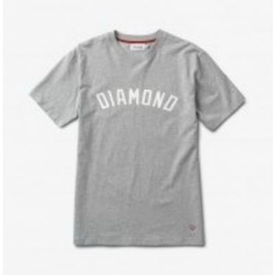 Diamond Arch Tee Heather Grey