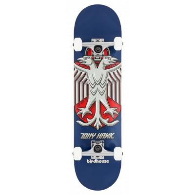 """Birdhouse Stage 1 Hawk Shield Complete  Skateboard Blue 8"""""""