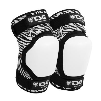 TSG Roller Derby d3o Knee Pads Zebra