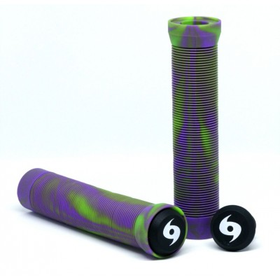 Storm Twister Scooter Grips - Lime/Purple