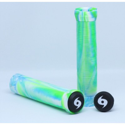 Storm Twister Scooter Grips - Aqua/Green/White
