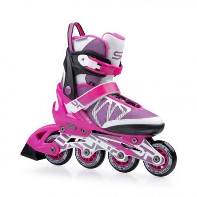 Spokey Speed Star Adjustable Inline Skates - Pink/White