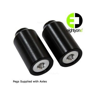 81 Customs Plastic Grind Pegs - Black