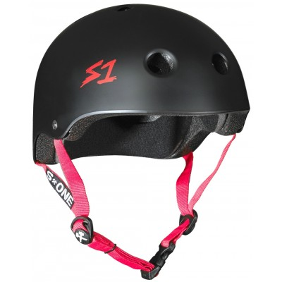 S One Lifer Helmet – Black Matte With Red Straps