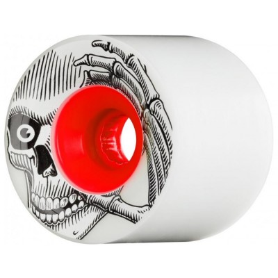These Wheels Pro K Rimes Stage 1 80A Longboard Wheels - White/Red