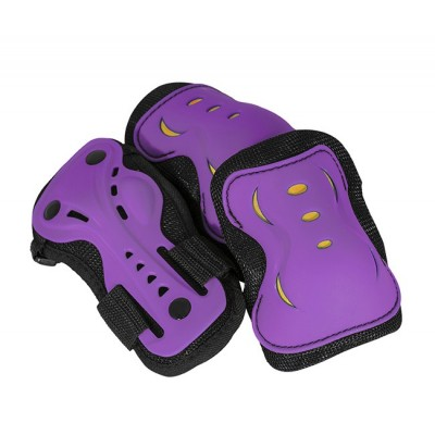 AC760 Triple Pad Skate Set Purple - Yellow