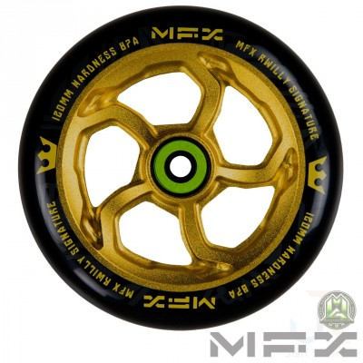 MFX R Willy HurricaneSIG 120mm Wheel - Anodised Gold