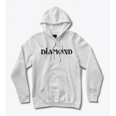 Diamond Desert Font Hoodie - White