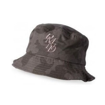 Diamond Serif Bucket Hat  - Black Camo