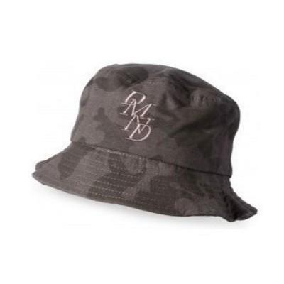 Diamond Serif Bucket Hat  - Black Camo