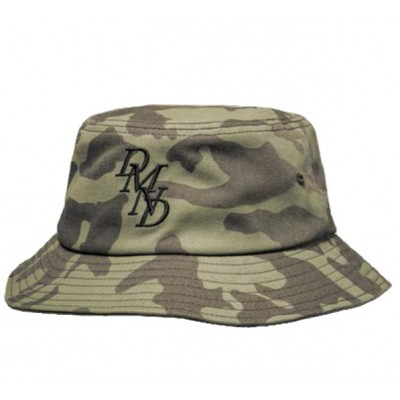 Diamond Serif Bucket Hat  - Olive Camo