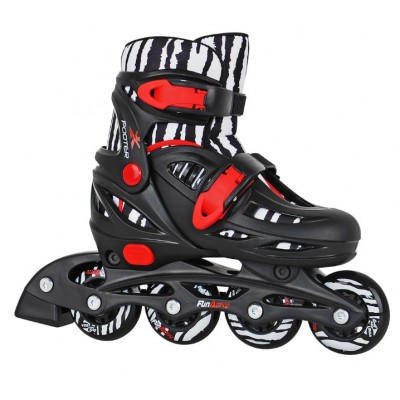Fun Activ Pooter Adjustable Inline Skates - Black