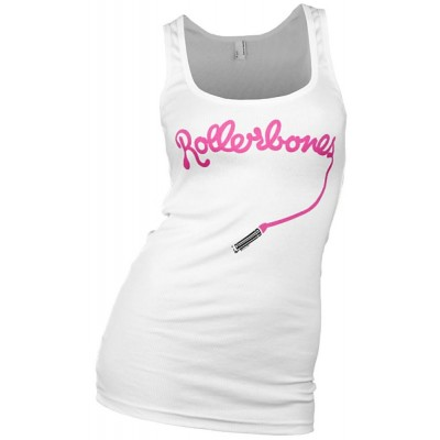 Rollerbones Derby Lipstick Girls Tank Top White