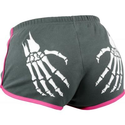 Rollerbones Derby Booty Shorts Grey / Pink