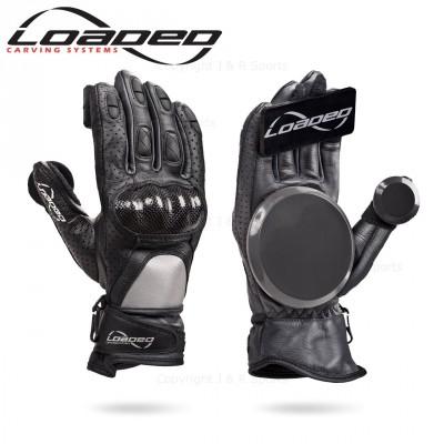 Loaded Leather Race Gloves - Black