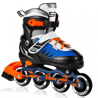 Spokey Tony Adjustable Inline Skates - Blue/Orange