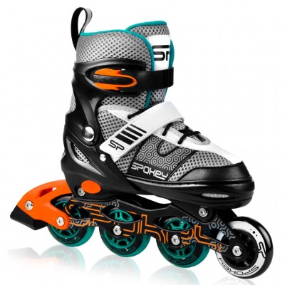 Spokey Arya Adjustable Inline Skates - Black/Orange