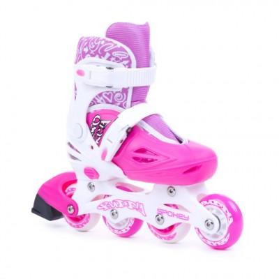 Spokey Buddy Girls Inline Skates - Pink/White