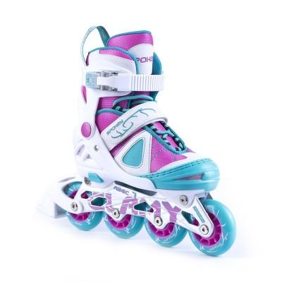 Spokey California Inline Skates - White/Pink