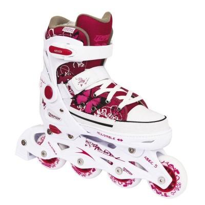 Tempish Rebel Adjustable Girls Inline Skates - Pink/White