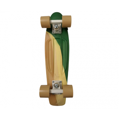 "Penny Cruiser Swirl  22"" - Green/Yellow -1"
