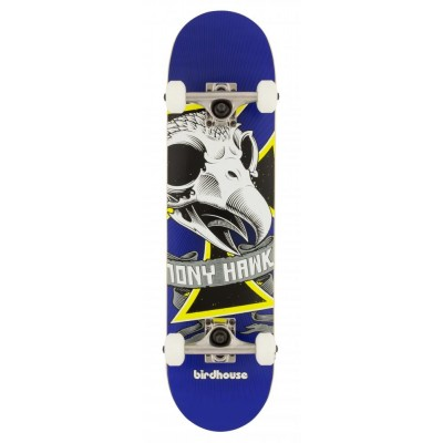 "Birdhouse Stage 1 Oversized Skull Mini Complete Skateboard - 7.25"""