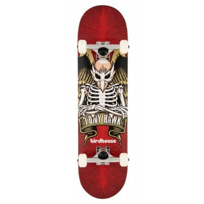 """Birdhouse Stage 1 TH Icon  Complete Skateboard Red - 8"""""""