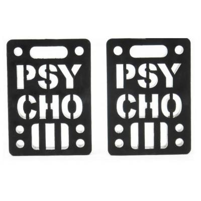 Psycho Soft Risers 1/4' (2 Pack) - Black