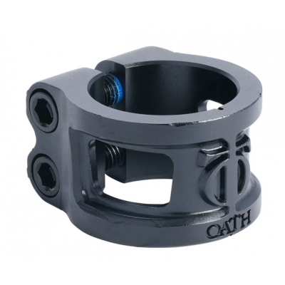 Oath Cage V2 Alloy 2 Bolt Scooter Clamp -  Anodised Satin Black