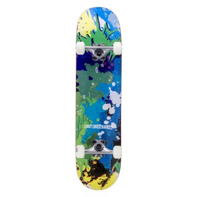 Enuff Splat Complete Skateboard - Green/Blue 7.75""