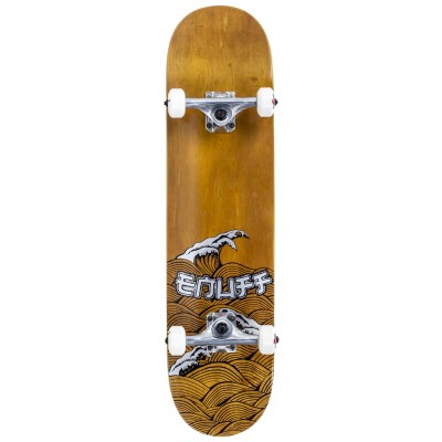 Enuff Big Wave Complete Skateboard - Brown/Silver 8""