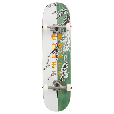 "Enuff Cherry Blossom Complete Skateboard - White/Teal 8"""