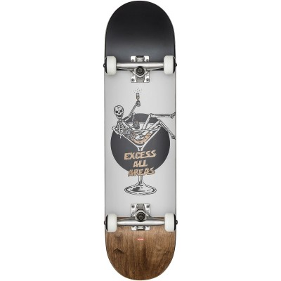 """Globe Excess White/Brown Complete Skateboard - 8"""""""