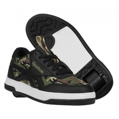 Heelys X Reebok CL Court Low (HE100941) - Black/Capulet Olive/Safarii